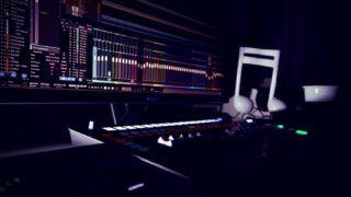 Home studio in the dark 🌙 🎧 #homestudio #faderport16 #studioone #music #sundayvibes