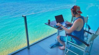 Music studio for the week 🎶 #musicproducer #summer #studio #one #blue #oceanview