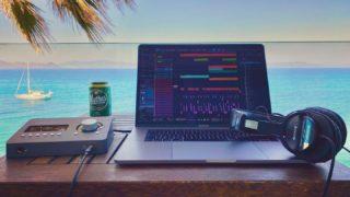 Mobile studio for the week 🎶 #musicproducer #mobile #studio #one #mythos #blue #oceanview